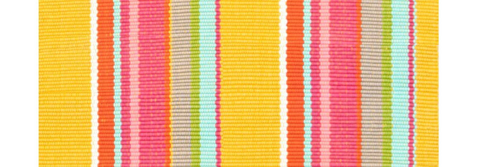 Happy Yellow Stripe Indoor/Outdoor Rug