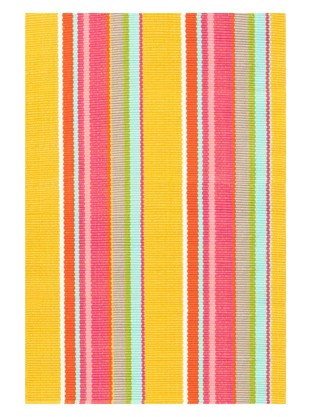 Happy Yellow Stripe Indoor/Outdoor Rug-1