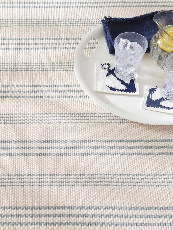 Swedish Stripe Woven Cotton Rug-4