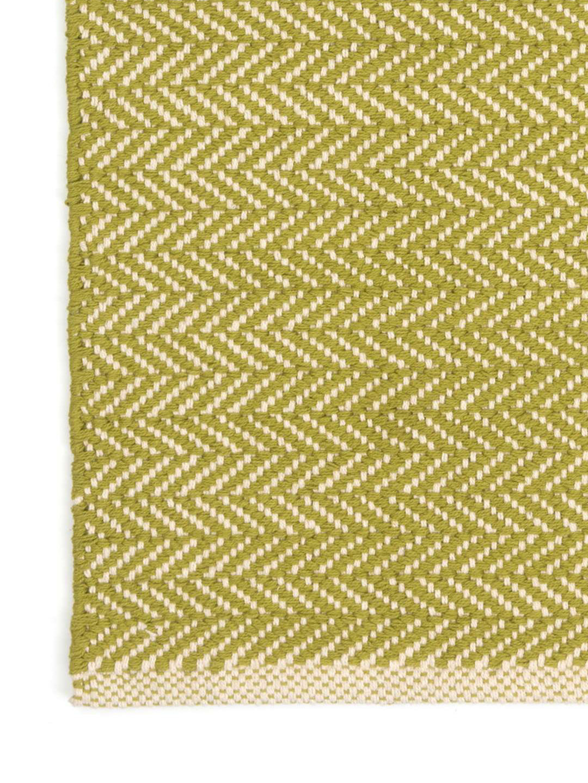 Herringbone Citrus Woven Cotton Rug-3
