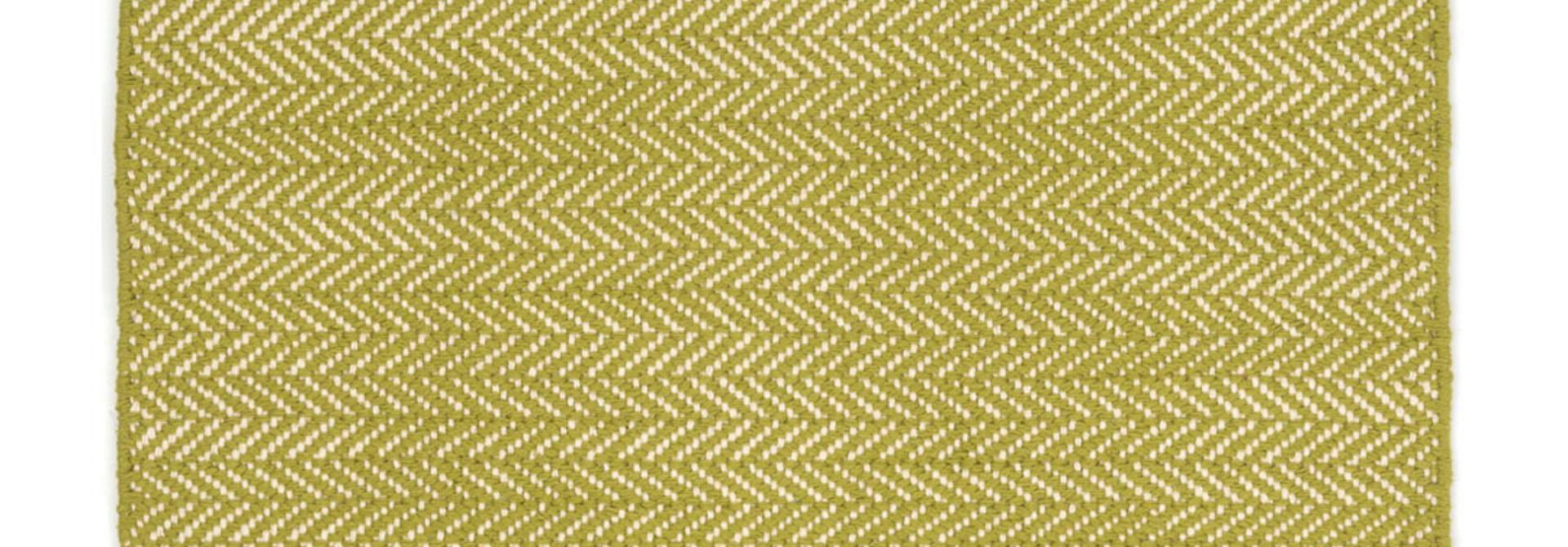 Herringbone Citrus Woven Cotton Rug