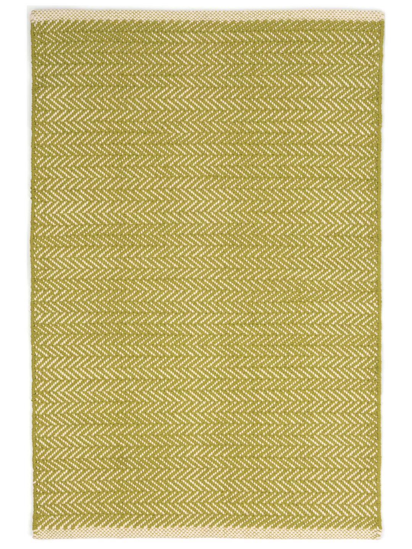 Herringbone Citrus Woven Cotton Rug-1