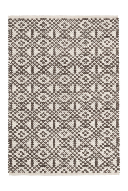 Hopscotch Grey Woven Wool Rug