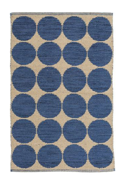 Orbit Blue Woven Wool Rug