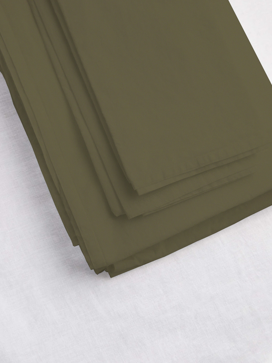 Fitted Sheet Queen - Olive-1