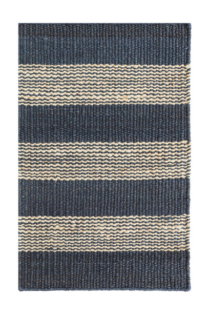 Denim Ticking Woven Jute Rug