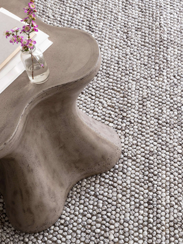 Niels Grey Woven Wool/Viscose Rug-2