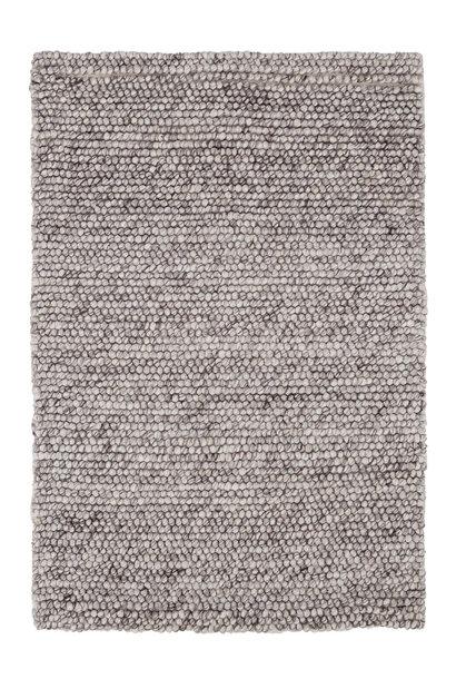 Niels Grey Woven Wool/Viscose Rug