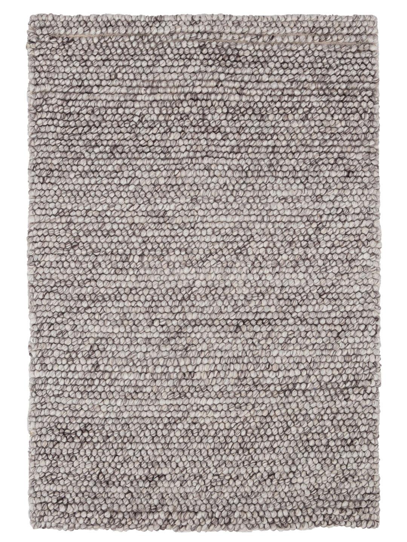 Niels Grey Woven Wool/Viscose Rug-1