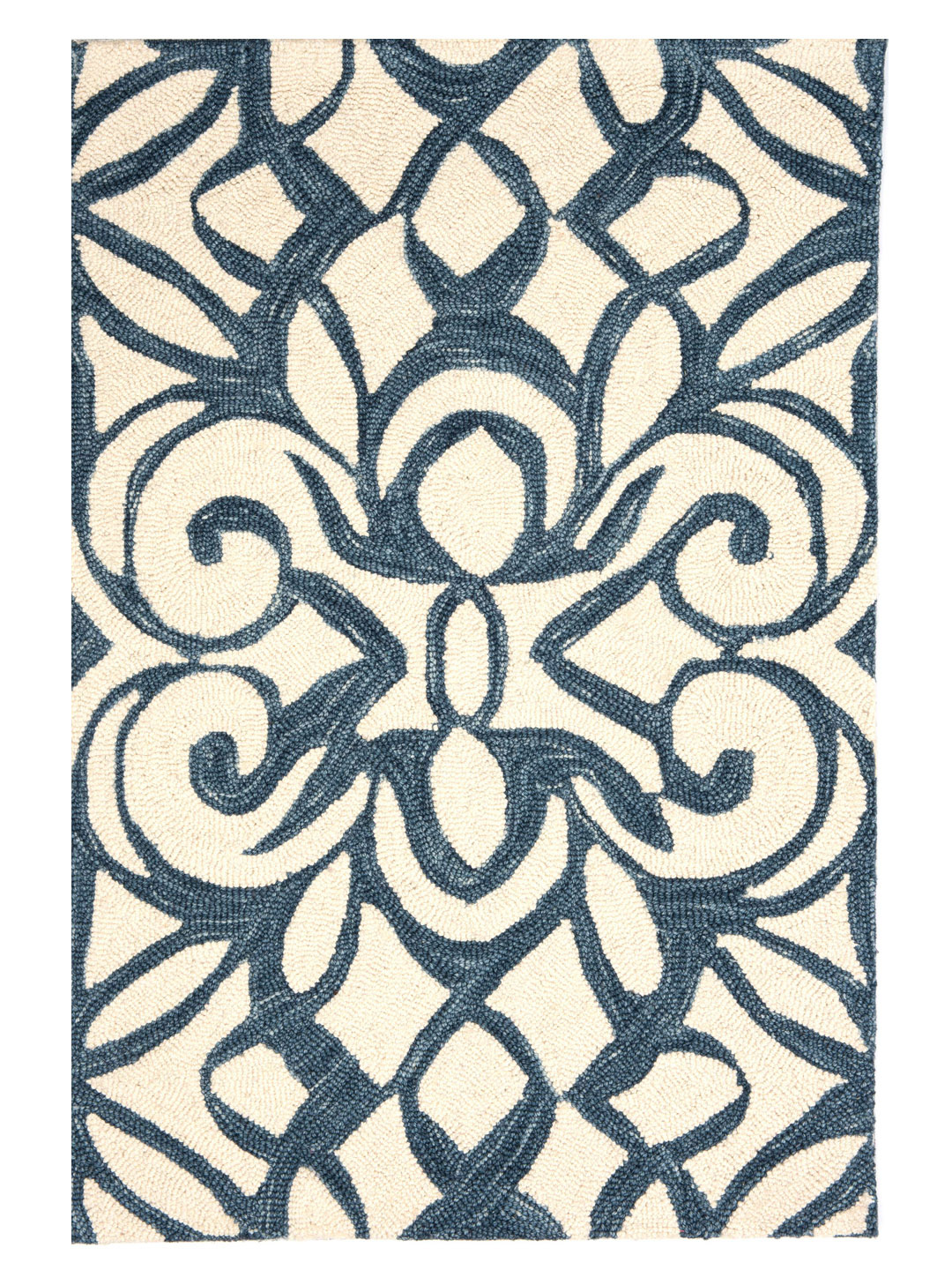 Chandelier Ink Wool Micro Hooked Rug-1