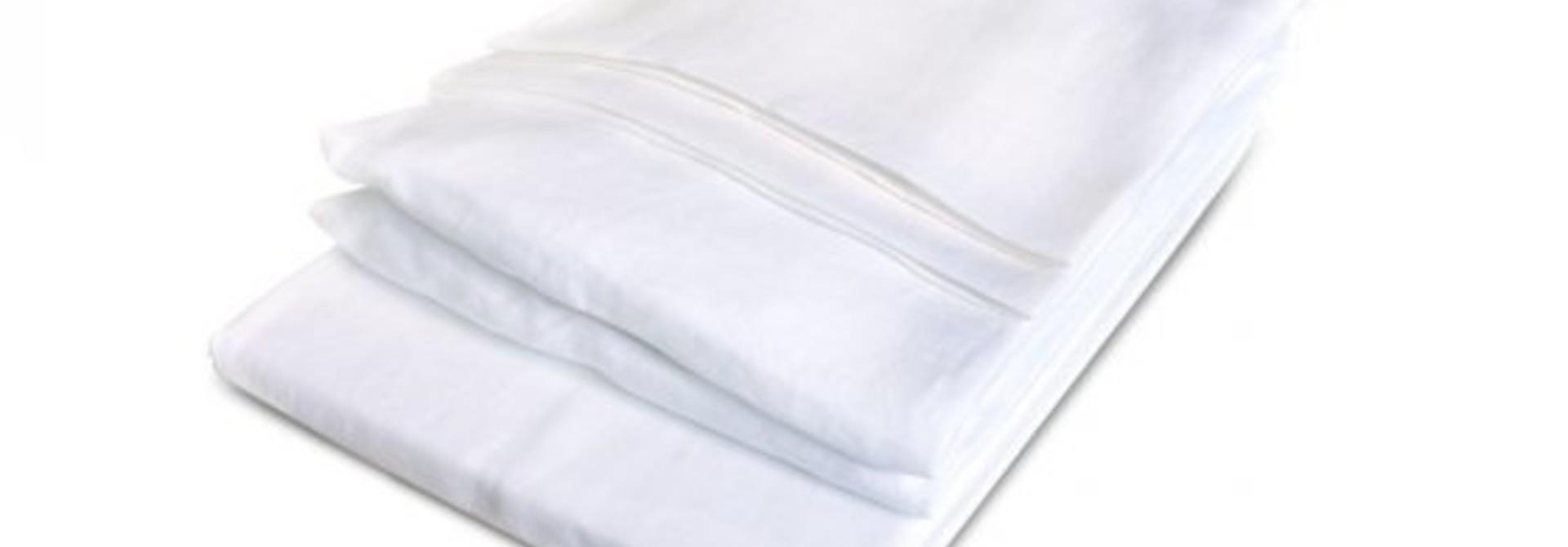 Flat King Sheet - California - White