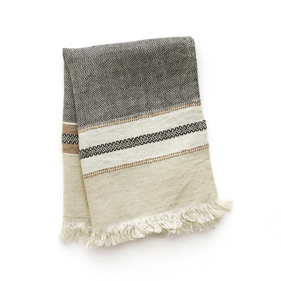 Hand Towel Fouta - Beeswax-1