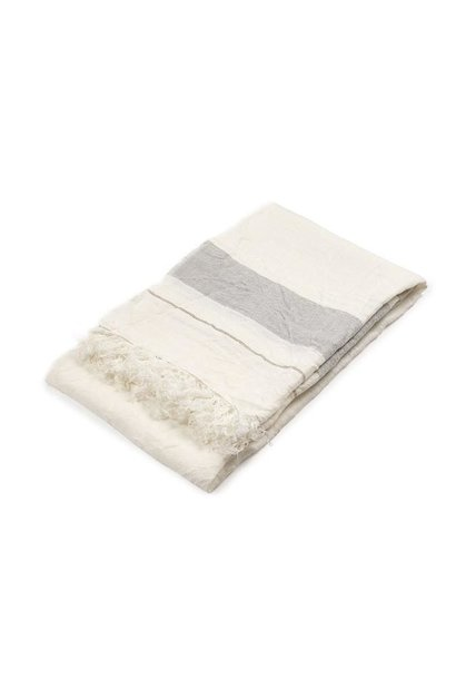 Bath Towel Fouta - Oyster Stripe