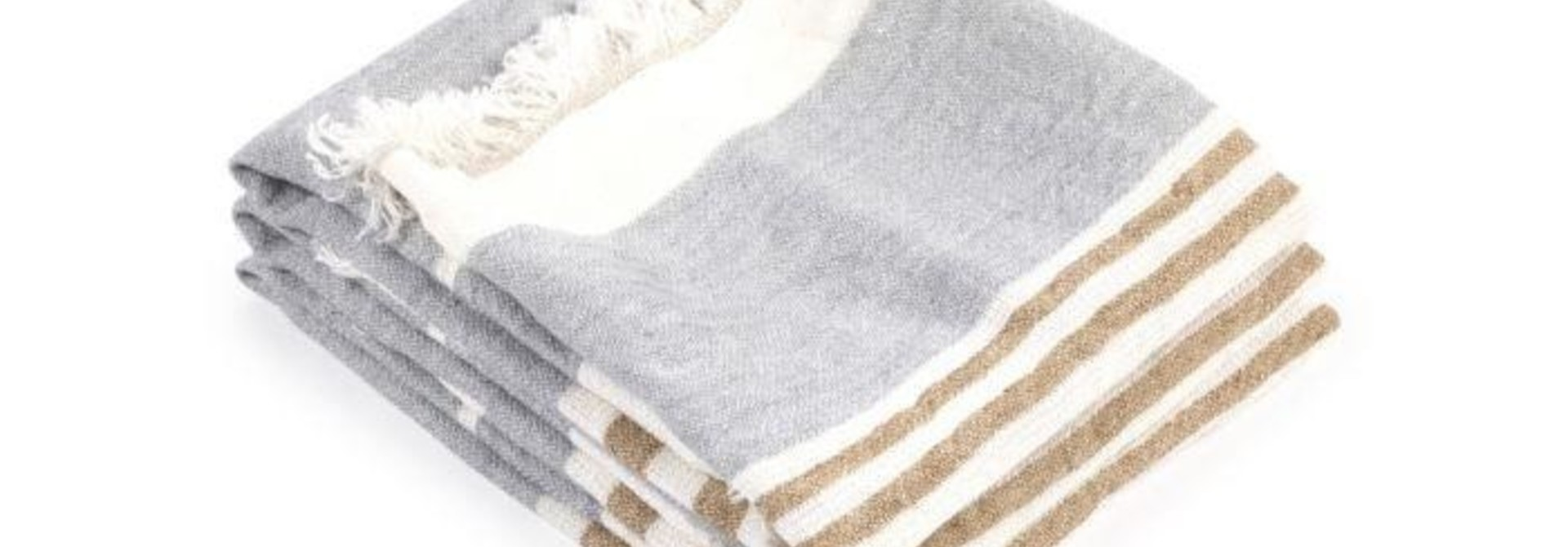Bath Towel Fouta - Ash Stripe
