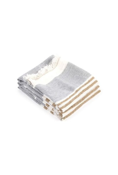 Bath Towel Fouta - Ash Stripe