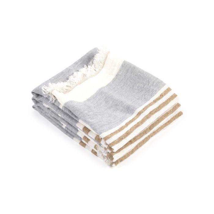Bath Towel Fouta - Ash Stripe-1