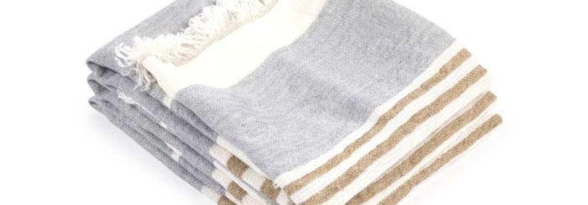 Guest Towel  - Ash Stripe