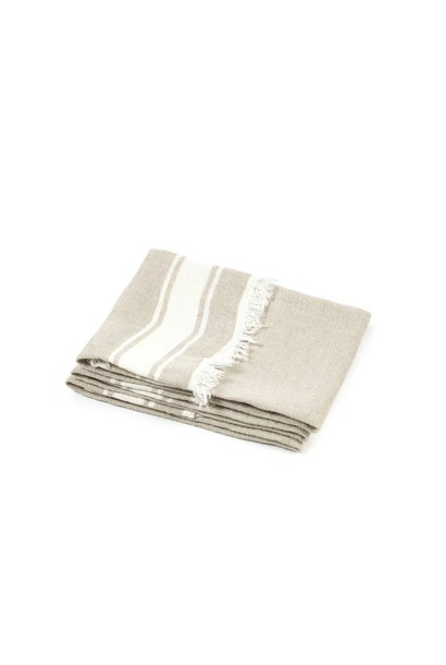 Bath Towel Fouta - Flax Stripe