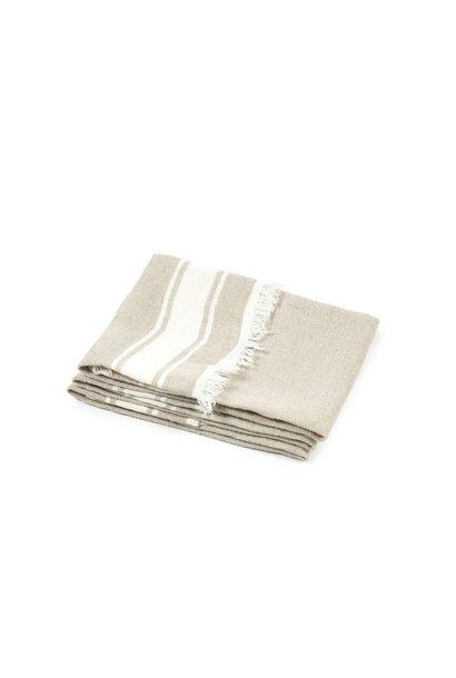 Guest Towel  - Flax Stripe