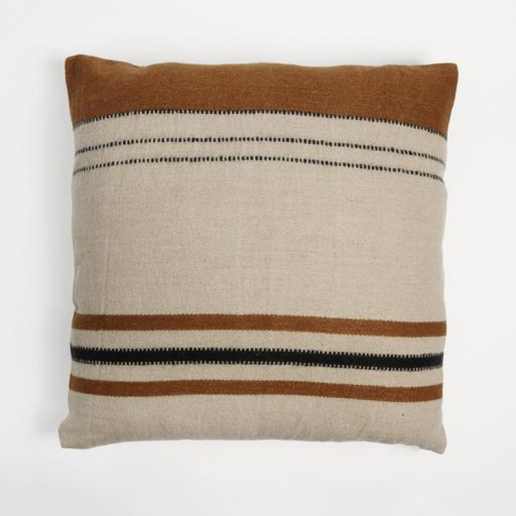 Cushion Cover Foundry - Beeswax Stripe-1
