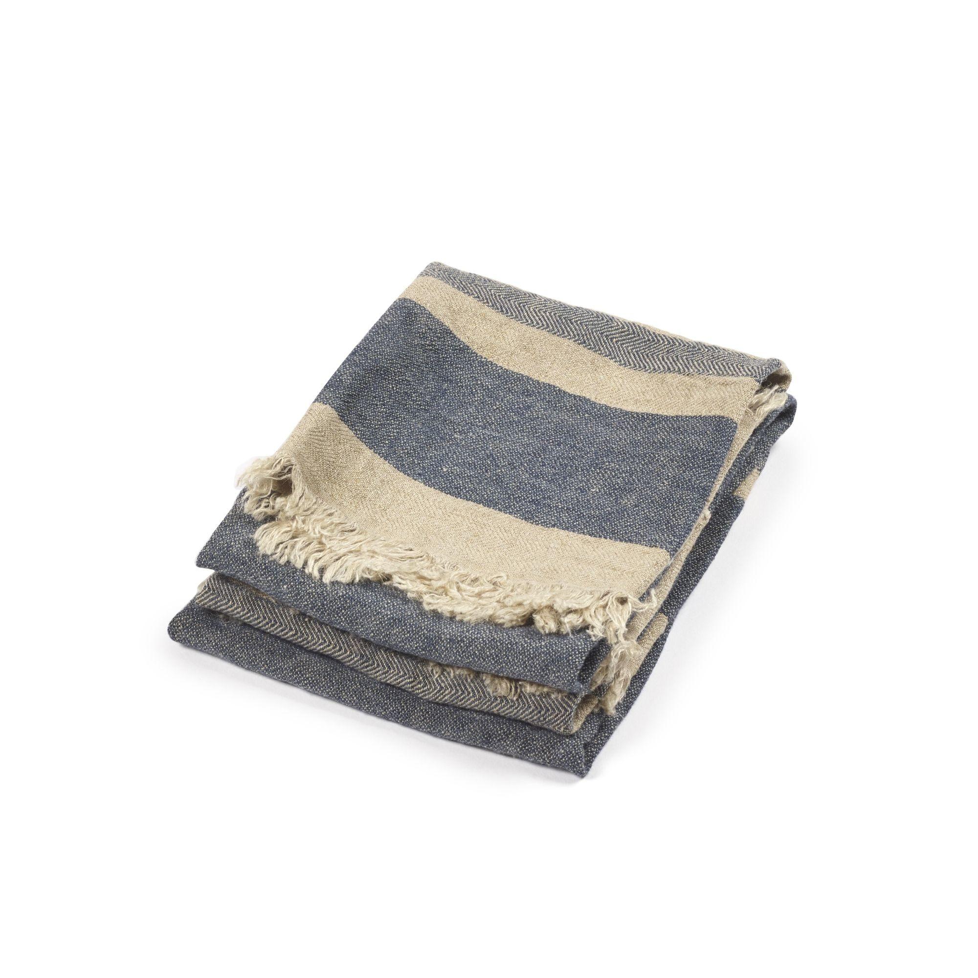 Bath Towel Fouta - Sea Stripe-1