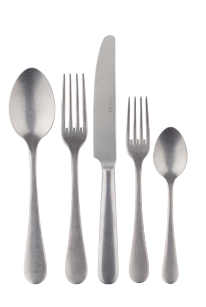 Stainless Steel Vintage Finish 5 Piece Place Setting