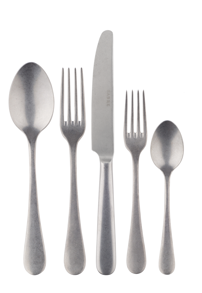 Stainless Steel Vintage Finish 5 Piece Place Setting-1