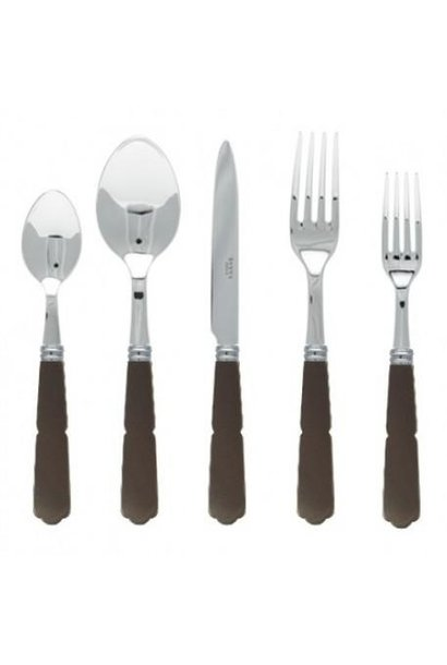 Gustave 5 Piece Place Setting - Brown/Grey