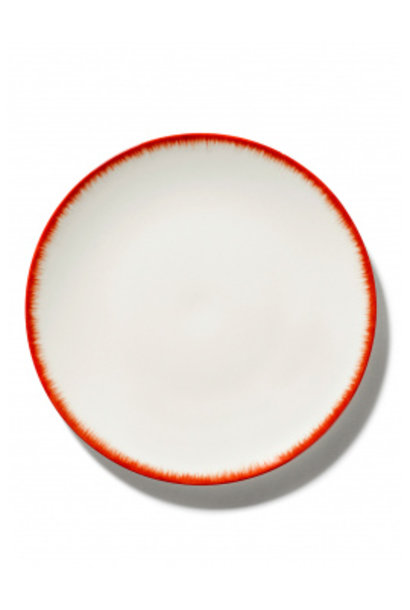 Plate - Off wh. w/red - B4019330 - Var. 2