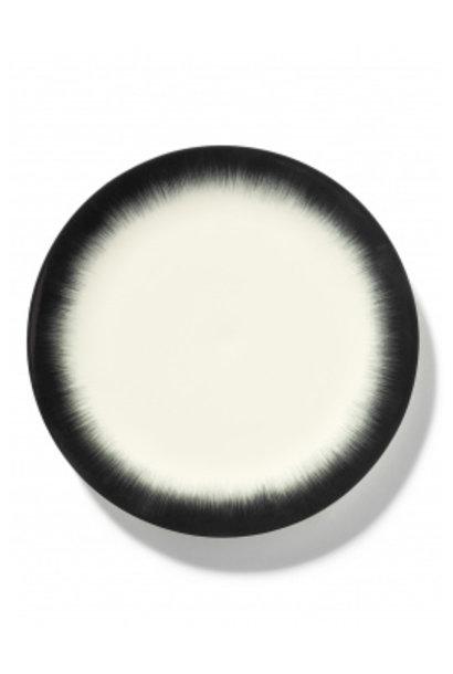 Plate - Off wh. w/blk - B4019326- Var. 4