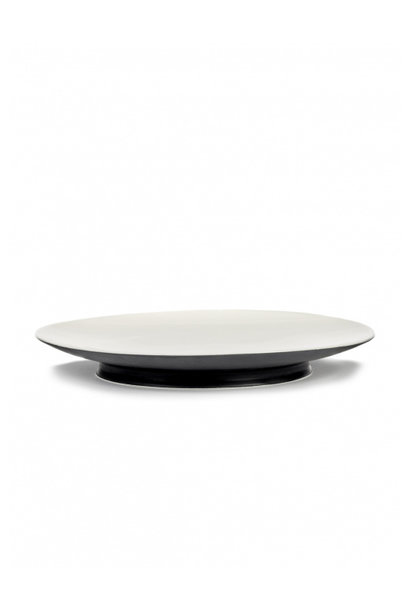 Plate - Off wh /blk - B4019409