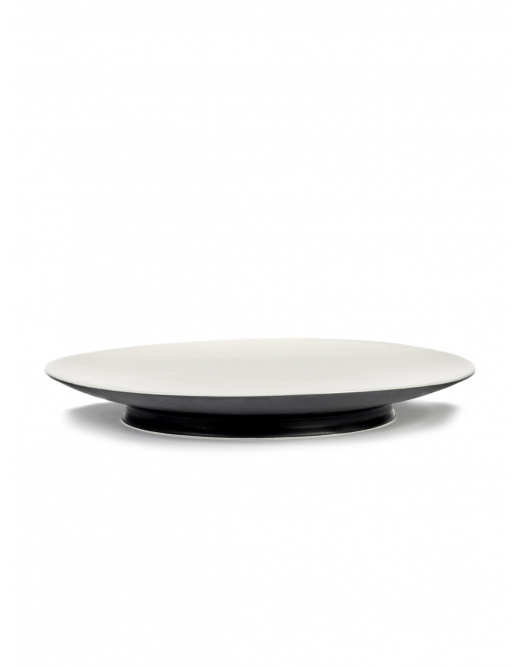 Plate - Off wh /blk - B4019409-1