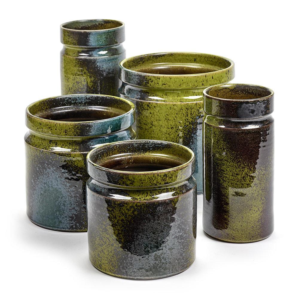 Flower Pot B7618225 - Green Blue Sixties-2