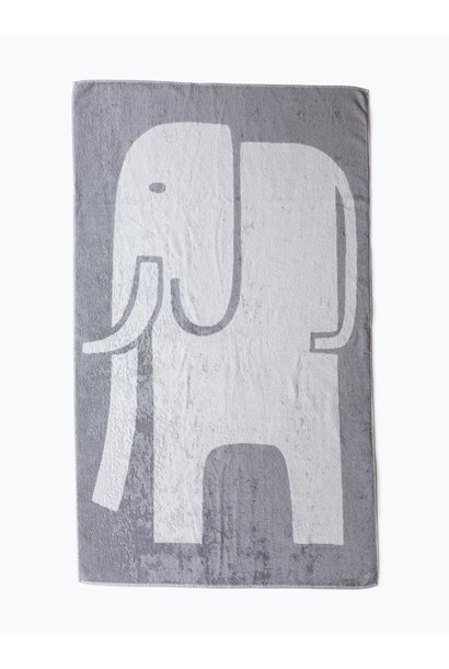 Bath Towel - Elephant - Grey