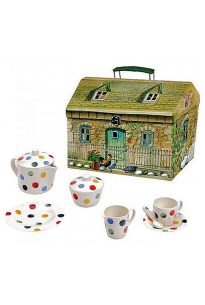 Kid's Polka Dot Melamine Tea Set