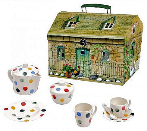 Kid's Polka Dot Melamine Tea Set-1