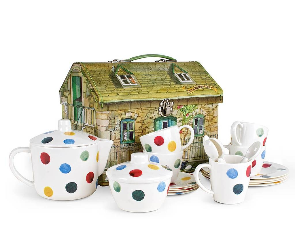 Kid's Polka Dot Melamine Tea Set-3