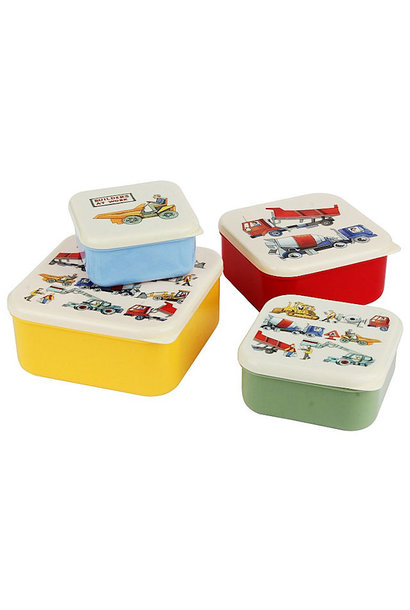 Emma B. Builders at Work Snack Tubs 4pc. Set