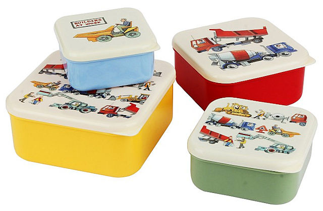 Emma B. Builders at Work Snack Tubs 4pc. Set-1