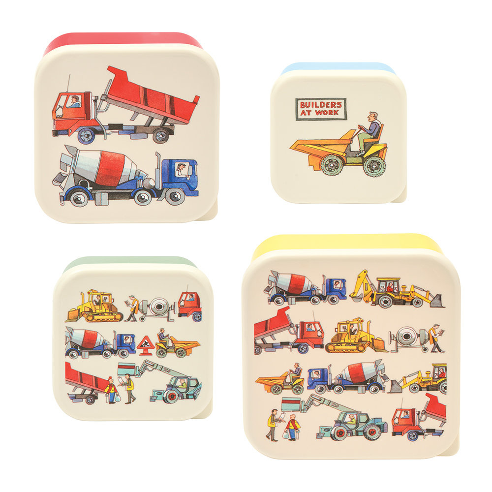 Emma B. Builders at Work Snack Tubs 4pc. Set-2