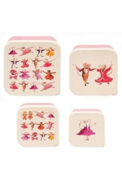 Kid's Dancing Mice 4pc. Snack Set