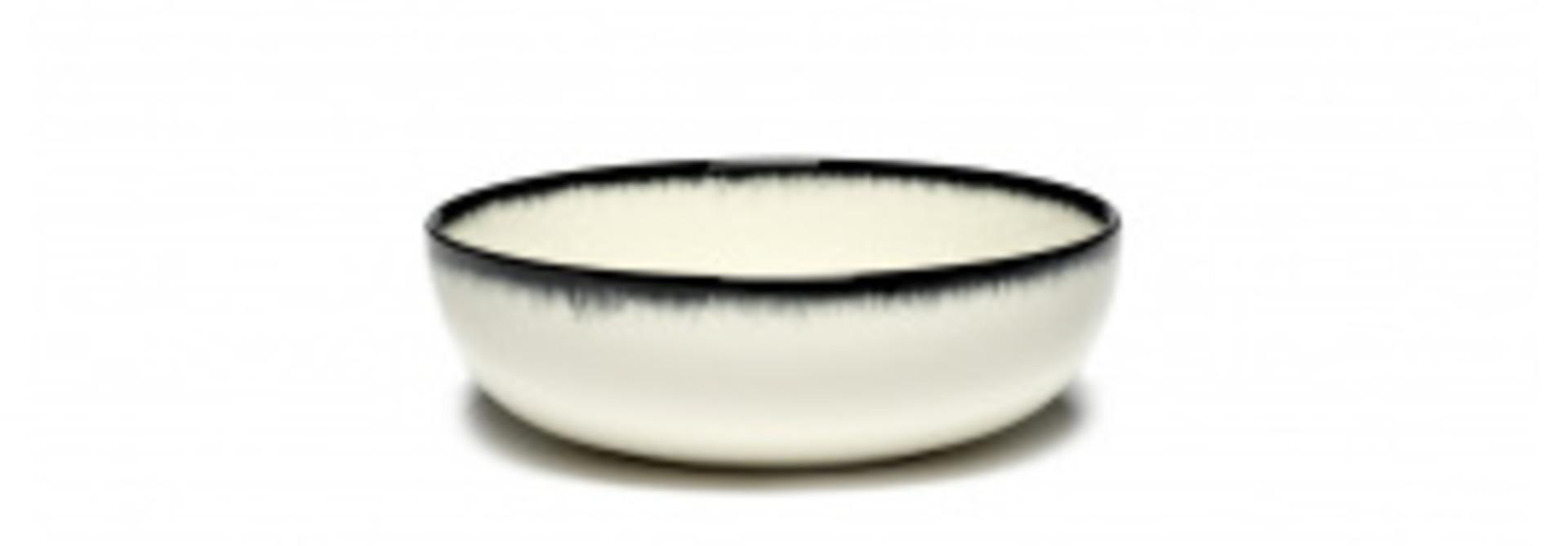 Side Bowl - Off wh. w/blk - B4019332-Var A