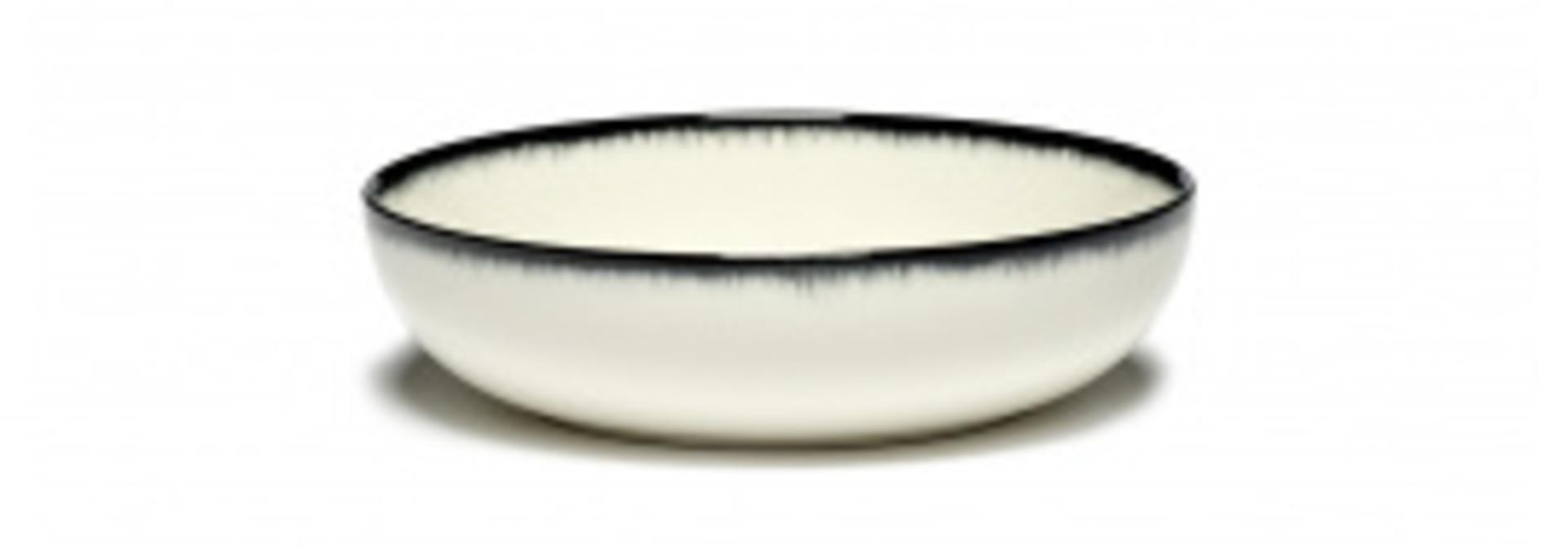 Soup Bowl -  Off wh. w/blk - B4019336-Var A
