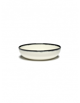 Soup Bowl -  Off wh. w/blk - B4019336-Var A-1