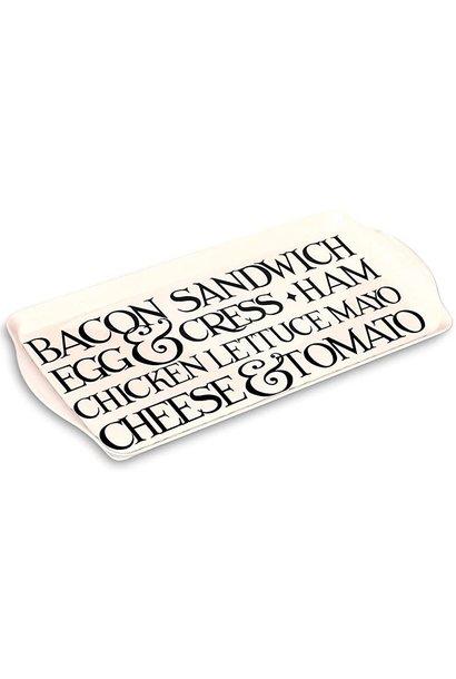 Sandwich Tray - Melamine - Blk Toast