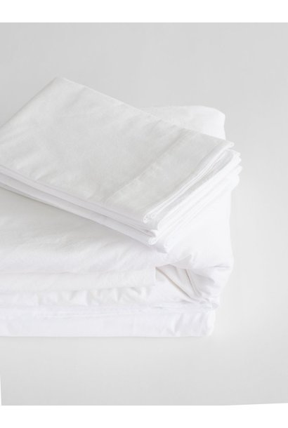 Fitted Sheet - King - White