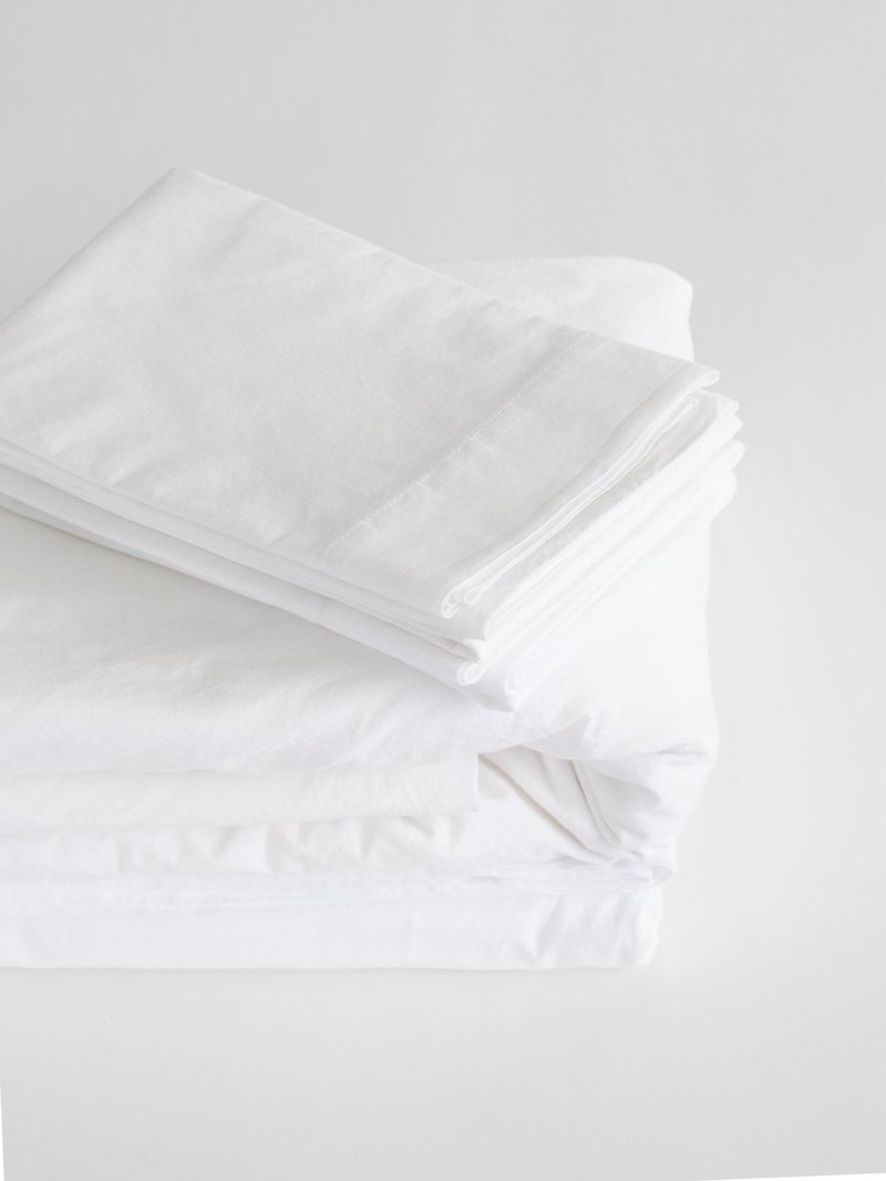 Fitted Sheet - King - White-1