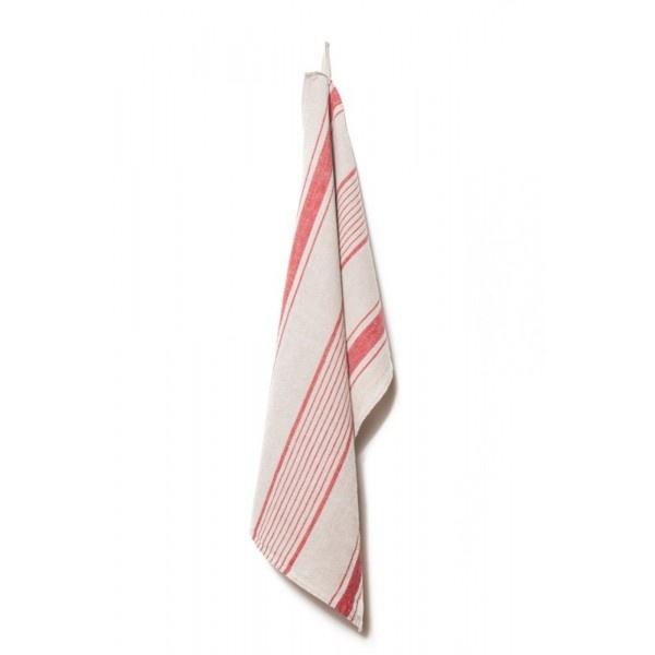 Tea Towel - Aubagne - Nat/Red-1
