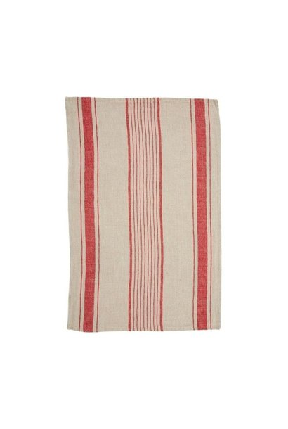 Tea Towel - Aubagne - Nat/Red