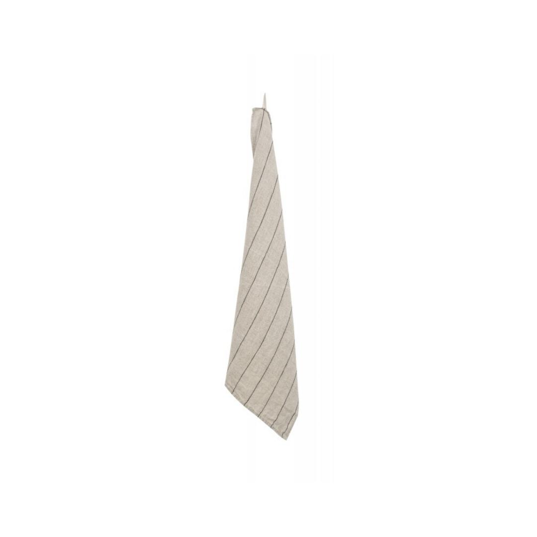 Tea Towel - Calvi - Nat/blk-1
